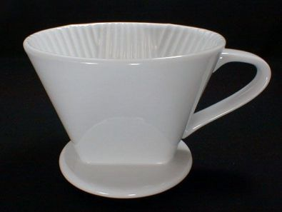 #2 Cone White Porcelain Coffee Filter Holder