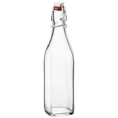 35 oz Square Clear Glass Bottle