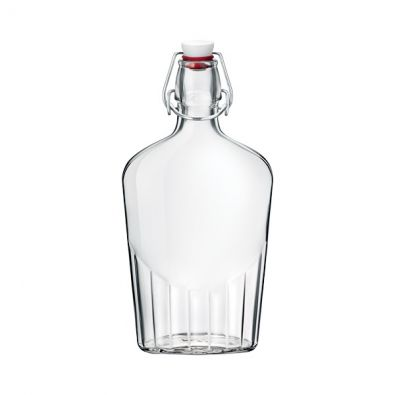17 oz Fiaschetta Clear Glass Bottle