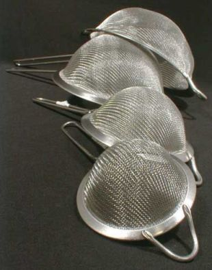 Fine Mesh Stainless Strainer, 4 in.