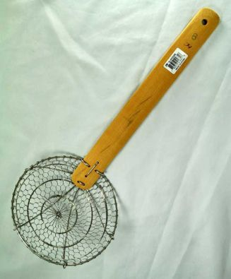 Bamboo and Stainless Wire Skimmer, 6 in.