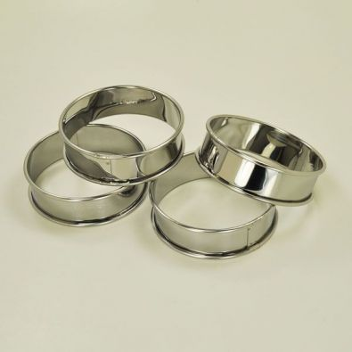 Patisse 3 Inch Tart Rings Set of 4
