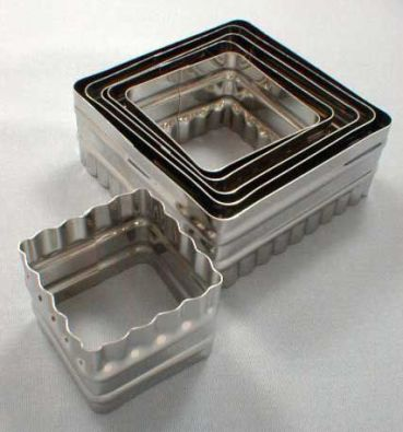 Double Sided Square Cutter, 6 Piece Set