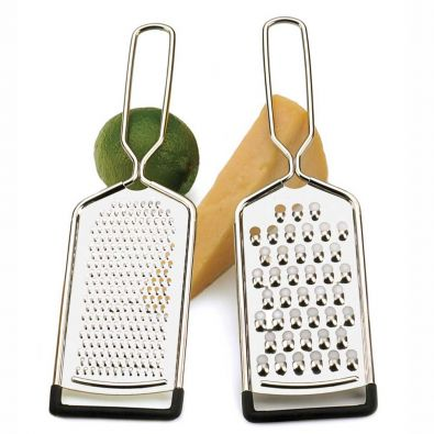 Set of Coarse and Fine Long Handled Graters
