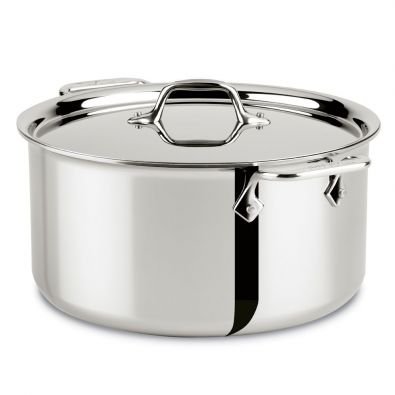 All-Clad Stainless Steel 8 Quart Stock Pot with Lid