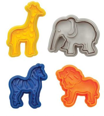 Mrs Andersons Animal Cracker Plunger Cookie Cutters Set
