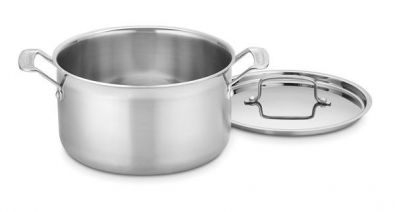 Cuisinart MultiClad Pro Stainless Steel 6 Quart Stock Pot With Lid