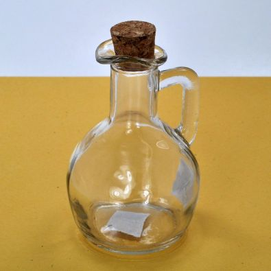 Pot Belly Glass Cruet With Cork 6-Oz