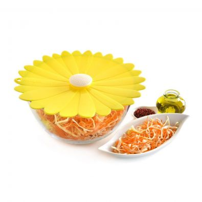Charles Viancin Yellow Daisy Silicone Lid, 11 in.