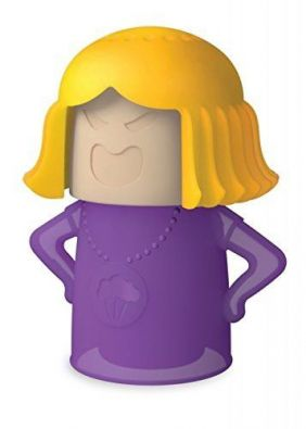 Angry-Mama Microwave Cleaner, Purple and Yelllow