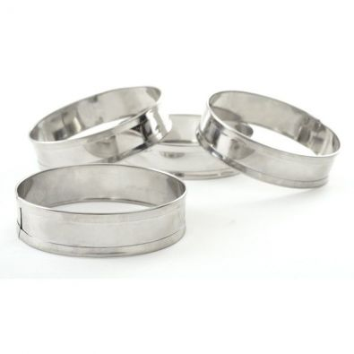 Stainless Steel English Muffin Rings, Set of 4